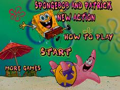 Spongebob and Patrick New Action