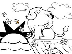 Steven Universe Lion Coloring