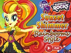Sunset Shimmer Rainbooms Style