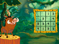The Lion King Timon and Pumbaas Sudoku
