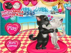 Tom and Angela Valentine Kiss