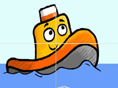 Toot the Tiny Tugboat Sliding Puzzle