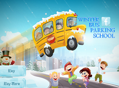 Winter Bus parking School