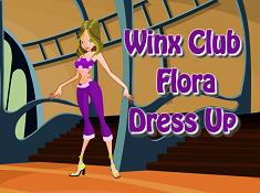 Winx Club Flora Dress Up