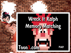 Wreck It Ralph Memory Matching